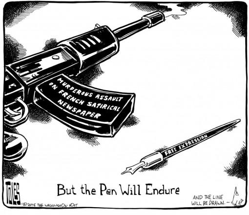Washington Post Tom Toles on Charlie Hebdo murders