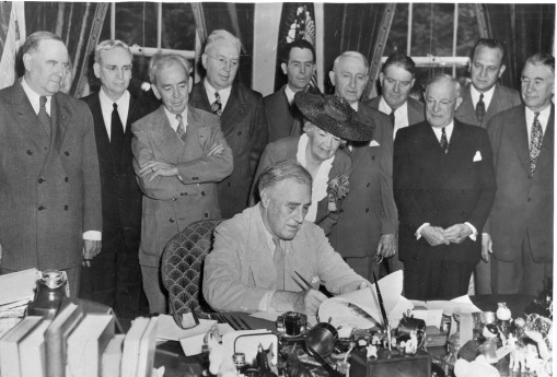 June 22, 1944: President Franklin Delano Roosevelt signs the G.I. Bill of Rights, which offers educational assistance to veterans.