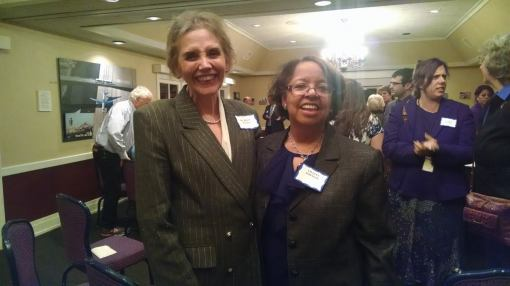 Kevin Ruegg (left) and Lillian Johnson were honored at a November 2014 Morris Institute for Justice event.
