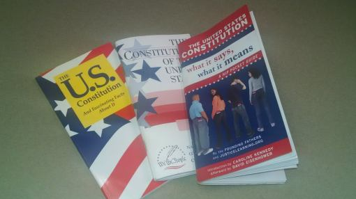 I'll admit it: I have a problem with the Constitution ... I have too many. Pocket Constitution
