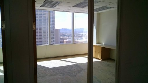 Sun shines into my old office at 111 W. Monroe