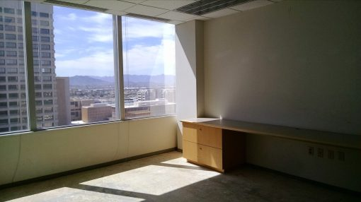 Afternoon sun in my old office at 111 W. Monroe