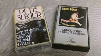 Audiocassette prizes for tweeting: Pete Seeger sing-along and Chuck Berry