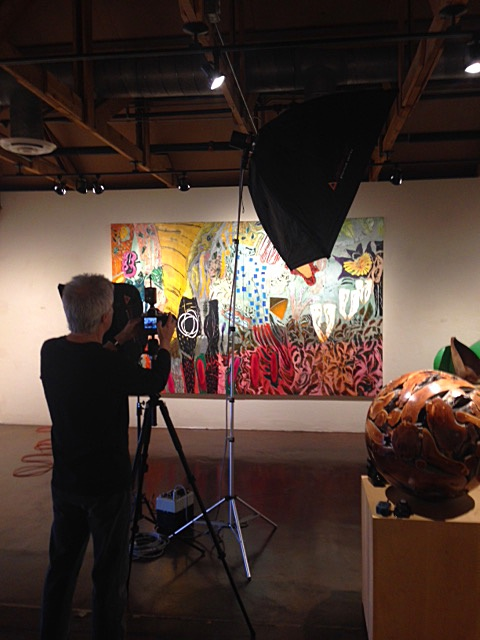 Photographer John Hall at the Arizona Attorney Magazine arts photo shoot, Larsen Gallery, Scottsdale, March 12, 2015.