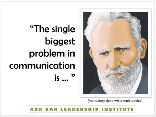 My #BLI15 PowerPoint slide with George Bernard Shaw