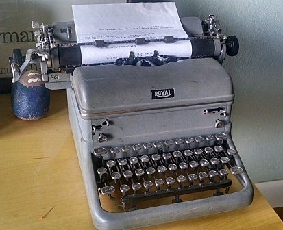 Our Royal typewriter at home