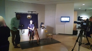 Personal screen test area, Phoenix Art Museum, Andy Warhol: Portraits