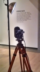 Camera and lighting for personal screen test area, Phoenix Art Museum, Andy Warhol:Portraits