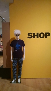 Shopping experience at end of the Warhol exhibition, Phoenix Art Museum.