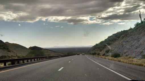 Road headed out of Globe, Ariz.