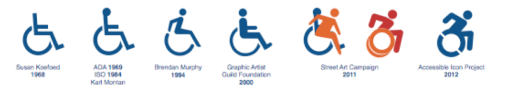 Accessibility icons through the years (from the Accessible Icon Project)