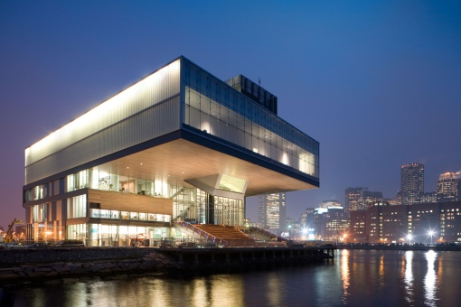 This is the Institute of Contemporary Art in Boston. Yes, it's as cool as it looks. Yes, you want to visit.
