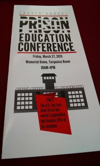 Brochure for the annual conference of the ASU Prison Education Awareness Club, March 27, 2015