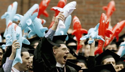 Should all law-school graduates be this confident? (Reuters/Jim Bourg)