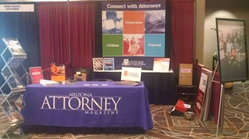 The Arizona Attorney Convention booth