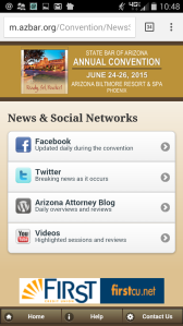 Convention app social media screenshot