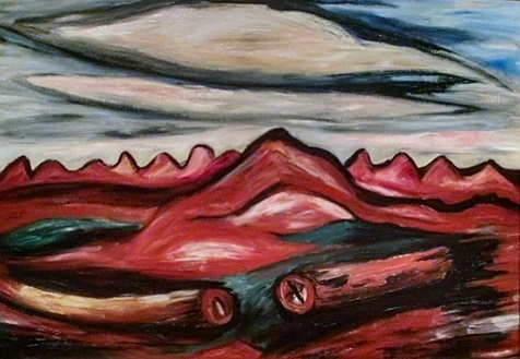 New Mexico Recollection #14 by Marsden Hartley