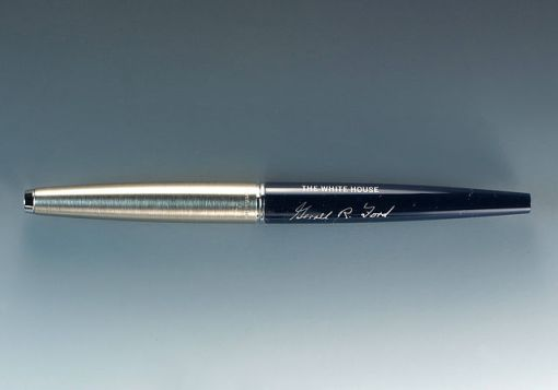 The pen Gerald Ford used to sign his pardon of Richard Nixon, Sept. 8, 1962. (Wikimedia Commons)