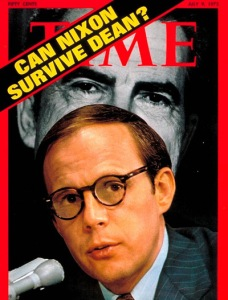 John Dean was Time Magazine's cover subject more than once. (And the answer: No, Nixon could not survive Dean's testimony.)