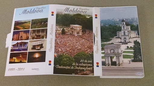 A gift from a previous delegation from Moldova was this beautiful booklet of pictures from the country. Scroll to the bottom to see how you can become the proud owner of it (and to see it open and extended).