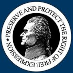 Thomas Jefferson Center 1st Amendment container indiegogo logo