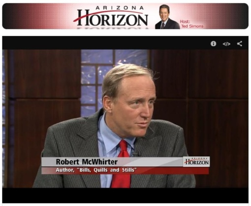 Screen-grab of Bob McWhirter on AZ PBS's Horizon.