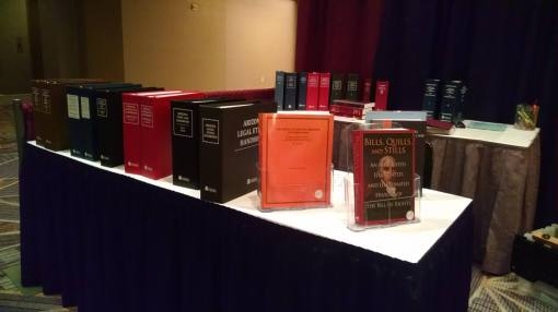 Bob McWhirter's Bill of Rights book featured at the State Bar 2015 Convention #azbarcon