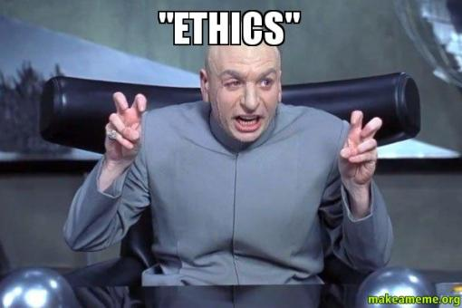 We may not all mean the same thing when we discuss workplace ethics. I'd like to hear your ideas, and stories too.