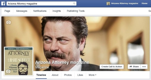 Yes, Arizona Attorney can get cheeky on its Facebook page. facial hair Nick Offerman