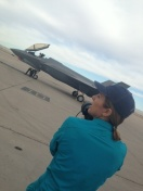 Photographer Karen Shell on location at Luke Air Force Base, July 9, 2015.