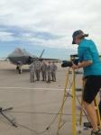 Photographer Karen Shell on location at Luke Air Force Base, July 9,2015.