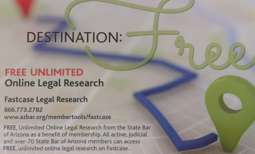 Free is something anyone can support. Fastcase is free for State Bar members, and discounts are available for other services.