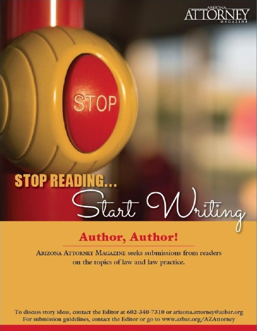 Stop reading start writing Arizona Attorney Magazine-page0001
