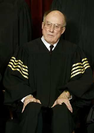 Making justice pop: Chief Justice Rehnquist and his preferred chevrons.