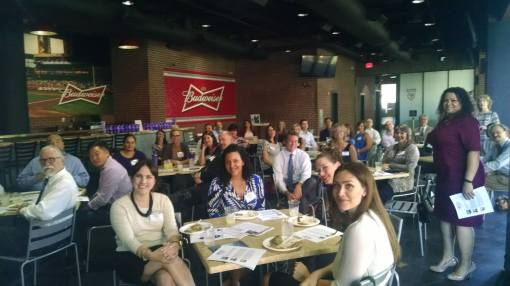 Attendees forced to endure a photo at the LMA corporate counsel panel, Sept. 17, 2015, Phoenix.
