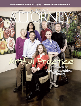 Our 2015 arts competition winners, on the cover of the May 2015 Arizona Attorney Magazine