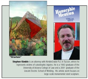 Stephen Kimble sculpture award in May 2006 Arizona Attorney
