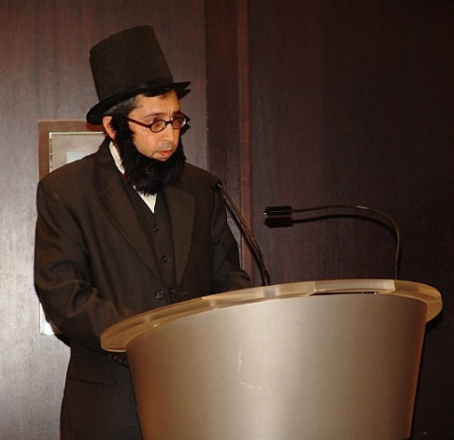 Evidence that wisdom does not flow from the beard: I moderated a Law Day event while channeling president and lawyer Abe Lincoln.