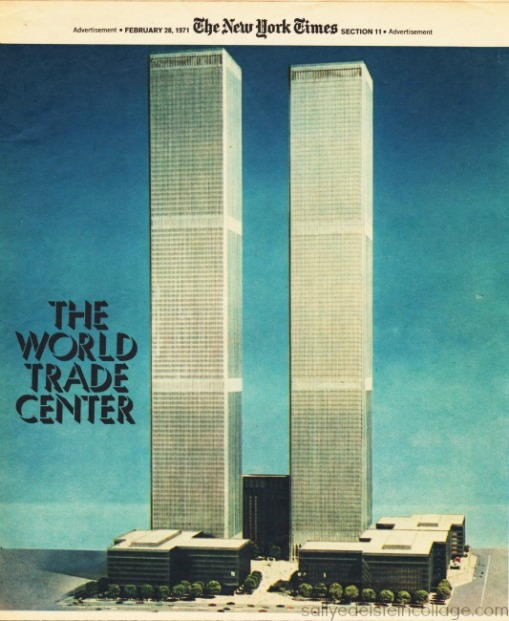 The World Trade Center's twin towers as they appeared in the New York Times, 1971.