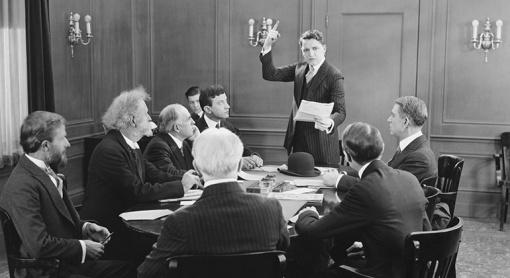 Nonprofit boards generally don't look like this anymore. But if they did, can you spot the attorney?
