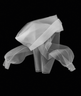 Gianfranco Ferré, Classic Glamour shirt, F/W 1990, prêt á porter, look 72. Silk organza. X-Ray simulation image by Leonardo Salvini. Courtesy of Gianfranco Ferré Foundation.