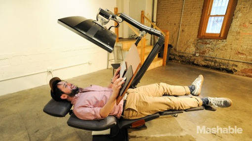 The lying-down desk eases your work and smooths our national path to a less-impressive future.