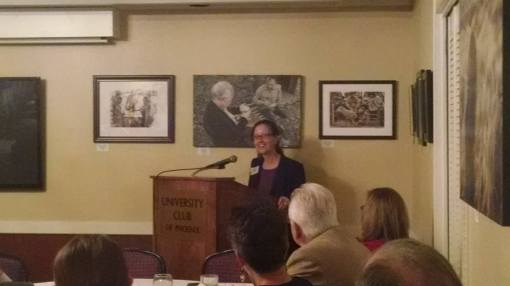 Sandy Bahr, University Club, Phoenix, Oct. 29, 2015.