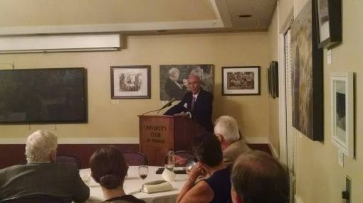 Tim Hogan speaks at the University Club, Phoenix, Oct. 29, 2015.
