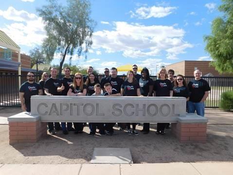 Quarles & Brady folks at Capitol School, Oct. 30, 2015.
