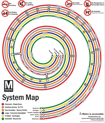 It's hard to resist redesigning even great subway maps. Here is the Washington, DC, system, via one designer's vision.