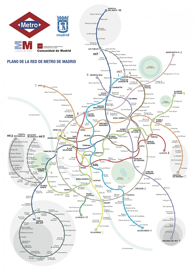 Madrid's subway map, reimagined.