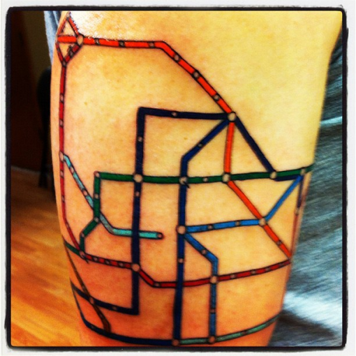 Skin in the game: The Seoul subway map, via tattoo.