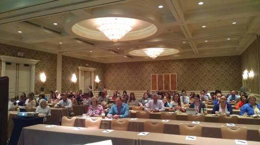 Attendees gather to hear us talk about the art of presenting.