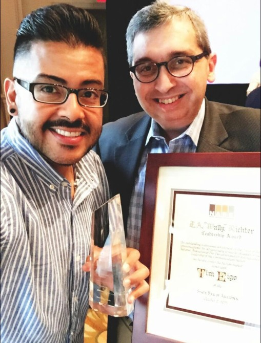 Alberto Rodriguez and I with awards from the National Association of Bar Executives, Orlando, Fla., Oct. 2, 2015.